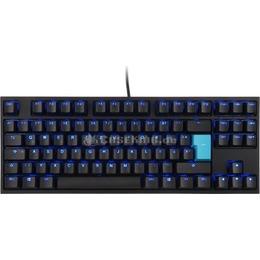 Ducky ONE 2 TKL Backlit PBT Gaming Keyboard, MX-Brown, blue LED - black - DE Layout