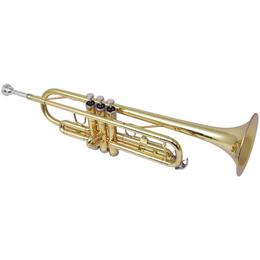 vidaXL trompet kollane messing, kuldlakiga Bb 70048