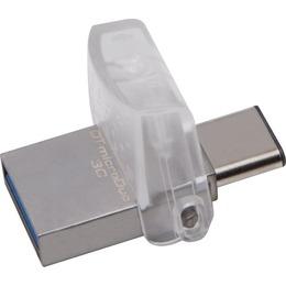 Kingston USB 3.0 Flash Drive DataTraveler microDuo 3C 128GB