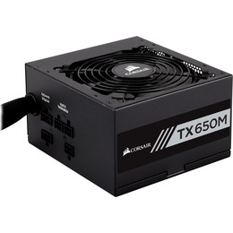 Corsair  Power Supply TX650M, 650W, 80 Plus® Gold, Semi-Modular, 120mm