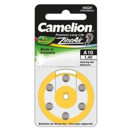 "Camelion  Zinc Air Celles 1.4V A10/ZL10, 6-pack, ""no mercury"""