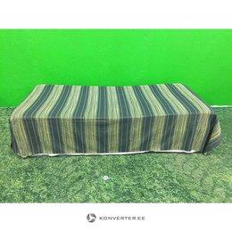 Roheline sametiga täispikk voodikate (kasutatud)