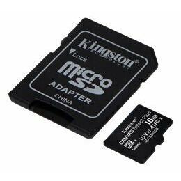 Kingston Canvas Select Plus R100 microSDHC 16GB Kit UHS-I U1 A1 Class 10 3tk + Adapter