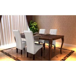vidaXL Söögitoa toolid 4 tk antiikne valge
