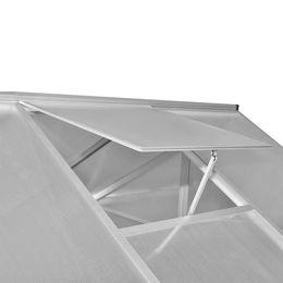 vidaXL vidaXLi tugevdatud alumiiniumist kasvuhoone alusraamiga 9,025 m2