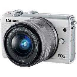 Canon EOS M100 White M15-45 S + CC-FJ001