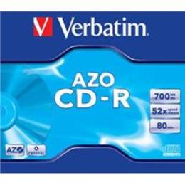 Verbatim CD-R 80/700MB 52X crystal/AZO jewel box