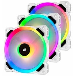 Corsair Case Fan LL Series LL120 RGB, white, 120mm, 3-pack, LED control