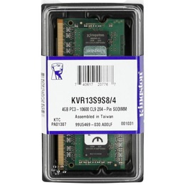 Kingston DDR3 soDIMM PC3-10600 1333MHz 4GB CL9 (9-9-9) SR X8