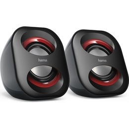 Hama SPEAKERS DO NOTEBOOK SONIC MOBIL 183 CZARNY/RED