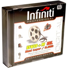 Infiniti DVD+R Dual Layer 8x, 8.5GB õhukeses karbis