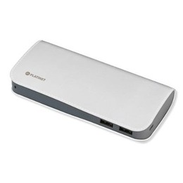 Platinet PMPB11LW Power Bank Luxury Leather 11000 mAh Universal Charger for devices 2x USB 2.1A White
