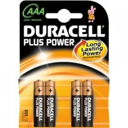 DURACELL Patarei Plus Power MN2400 AAA (LR03), 4-pack