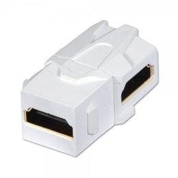 Lindy Keystone moodul: HDMI (F) - (F), 90 kraadise nurgaga, valge