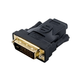 4World DVI-I D - HDMI F Black