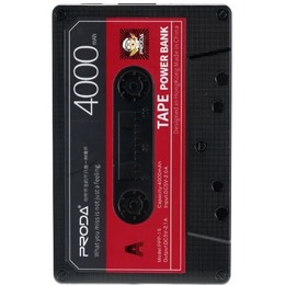 Remax Proda Old Audio Tape Design Power Bank 4000mAh Black