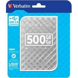 "Verbatim  External HDD Store 'n"" Go 2.5"" GEN 2, 500GB, USB 3.0, Silver"