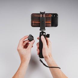 BLACK EYE Mustanahaliste silmade filmimise käepide / statiiv