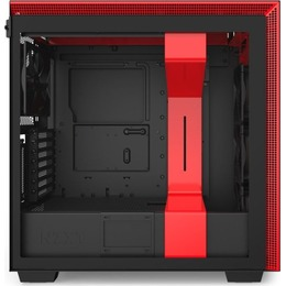 NZXT H710i black/red, glass window