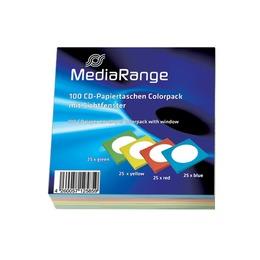 MediaRange Ümbrikud CD/DVD paberümbrik, 4 värvi, pakk