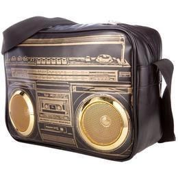 Fydelity Jambox G-Force Shoulder Bag with Speakers Black