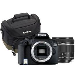 Canon EOS 2000D BK 18-55 IS + SB130 +16GB EU26, 24,1 MP, 6000 x 4000 pikslit, CMOS, Full HD, Must
