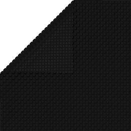 vidaXL kandilise basseini kate, 1200 x 600 cm, PE, must 92967