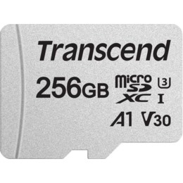 Transcend microSDXC Card  USD300S 256GB CL10 UHS-I U3 Up to 95MB/S with adapter (TS256GUSD300S-A)