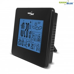 GreenBlue Weather station DCF IN/OUT moon phase GB146B black