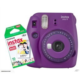 Fujifilm Instax Mini 9 Purple + Instax mini glossy (10)