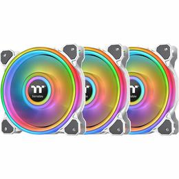Thermaltake Riing Quad 12 RGB cooler TT Premium Edition - 3er Pack, white, 120mm (CL-F100-PL12SW-A)