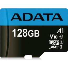 ADATA microSDXC Card 128GB Micro SDXC V10 85MB/s + adapter (AUSDX128GUICL10A1-RA1)