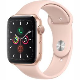 Apple Watch Series 5 GPS 44mm Gold Aluminum Case with Pink Sand Sport Band
