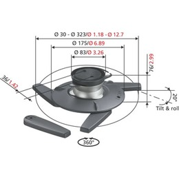 Vogels Projektori kinnitus EPC6545