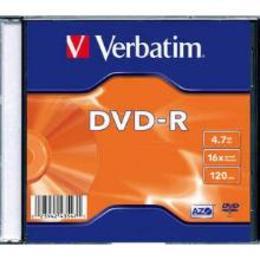 Verbatim DVD-R 4.7GB 16X matte silver slim box