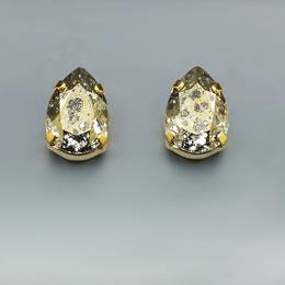Diamond Sky Earrings With Crystals From Swarowski Venus II Gold Patina
