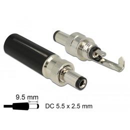 Delock DC pistik DC 5.5x2.5mm L=9.5 mm