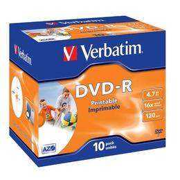 Verbatim DVD-R prinditav 4.7GB 16X jewel box