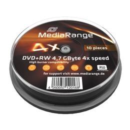 MediaRange DVD+RW 4,7Gb/4x Cake 10