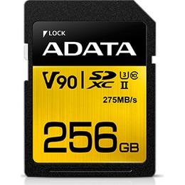 ADATA SDXC Card 256GB UHS-II U3 Class 10 Premier One