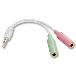 Lindy Audio adapter: kõrvaklappide ja mikrofoni ühendamiseks iPhone, iPod ja HTC, Lenovo seadmetega