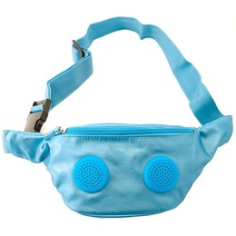 Fydelity Phanny Pack Derby Small Bag with Speakers Light Blue