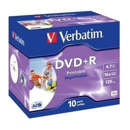 Verbatim DVD+R prinditav 4.7GB 16X jewel box printable