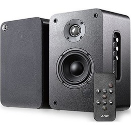 "Fenda  Multimedia - Speaker F&D R30BT 20Wx2 4"" woofer driver and 1"" tweeter, Bluetooth V4.0, NFC function, DSP processor, Volume, bass and treble controls, function remote control, Black and white colors"
