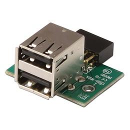 Lindy Adapter USB 2.0 2 x A (F) - 2 x USB port ühendus arvuti emaplaadile