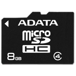 ADATA microSDHC Card SDHC 8GB Class 4 Adapt