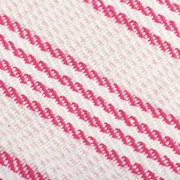 vidaXL puuvillane pleed, triibuline, 125 x 150 cm, roosa ja valge 245324