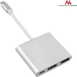 Maclean Adapter USB-C - HDMI / USB 3.0 / USB-C MCTV-840