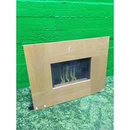 Puidust paneeliga elektrikamin seinale (kasutatud)