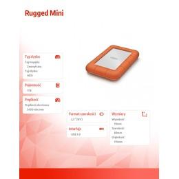 """LaCie  RUGGED MINI 1TB USB3/2 2.5"""""""